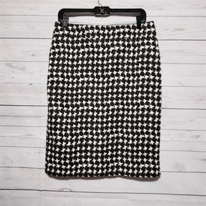 Talbots Houndstooth Fully Lined Pencil Skirt 8